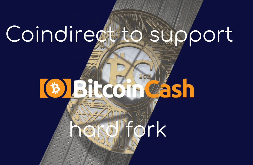 Coindirect exchange supporting BCH hard fork on the 15th of november