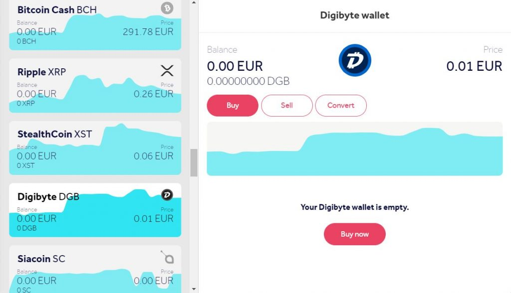 Buy Digibyte DGB online using a credit card